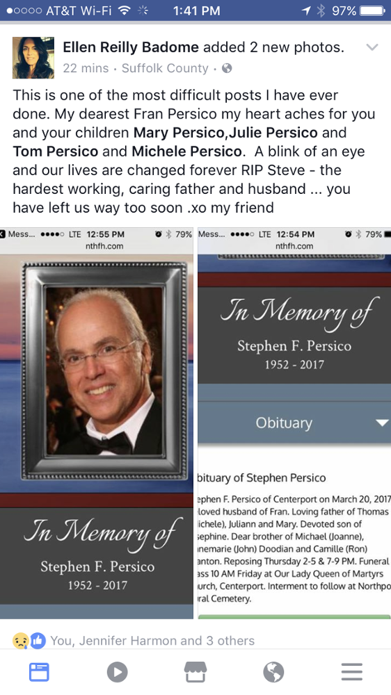 Photos of Stephen F  Persico | Nolan Funeral Home proudly